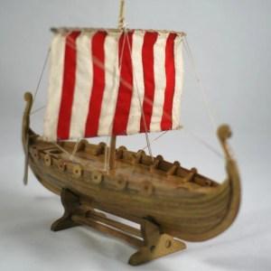 Viking longship urn cremation ashes urn keepsake urn
