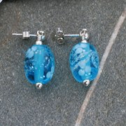 Memorial Glass Bead Earrings