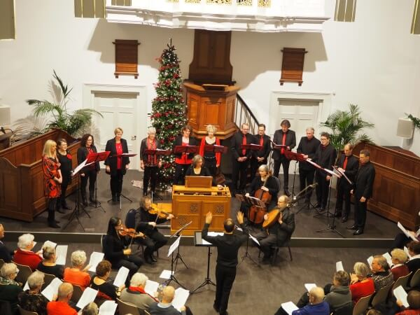 Kerstconcert door vocaal ensemble Corde Vocali