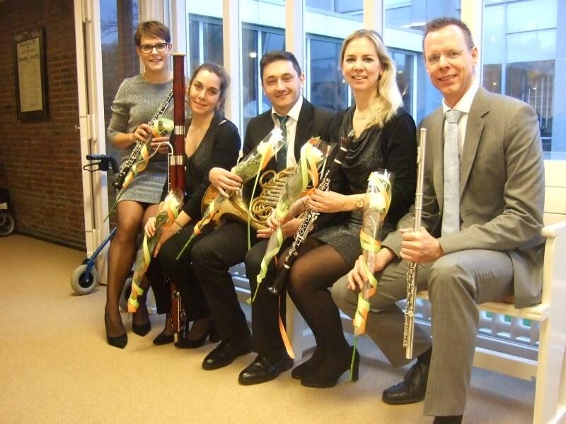 Succesvol Nieuwjaarsconcert door Amsterdam Wind Quintet