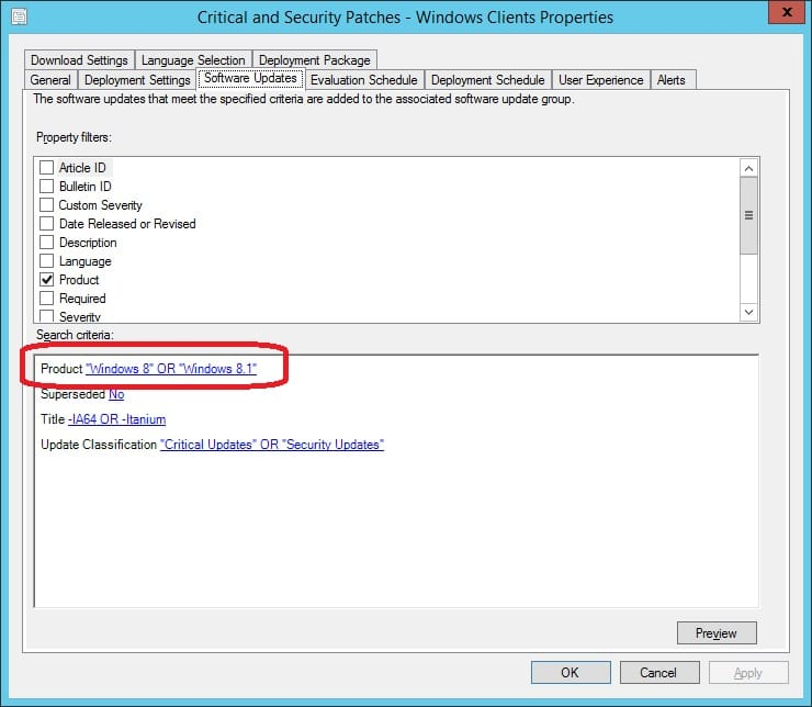 How to Add a Product to an ADR in ConfigMgr 2012 R2 with