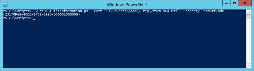 How to get MSI file information with PowerShell | System