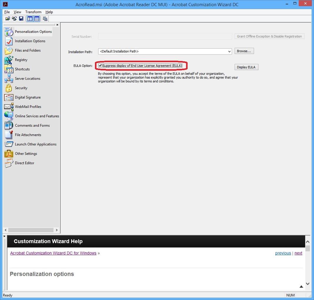 Deploy Adobe Acrobat Reader 2015 DC with ConfigMgr 2012