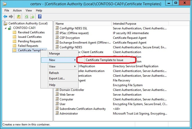 Prepare your environment for scep certificate enrollment with select the intune ndes certificate template and click ok yadclub