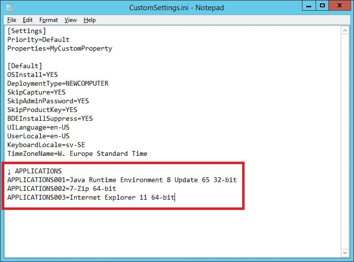 Dynamically install Applications in a MDT integrated Task