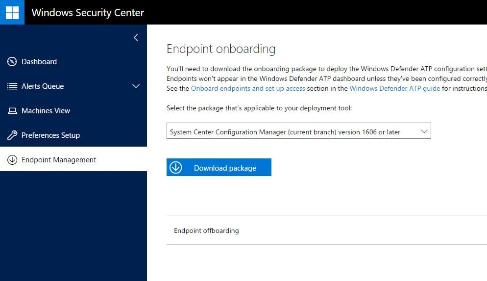 Onboarding Windows 10 devices into Windows Defender Advanced