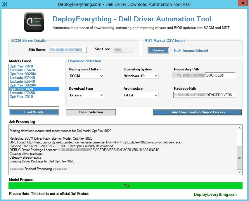 Dell Driver Automation Tool | | System Center ConfigMgr