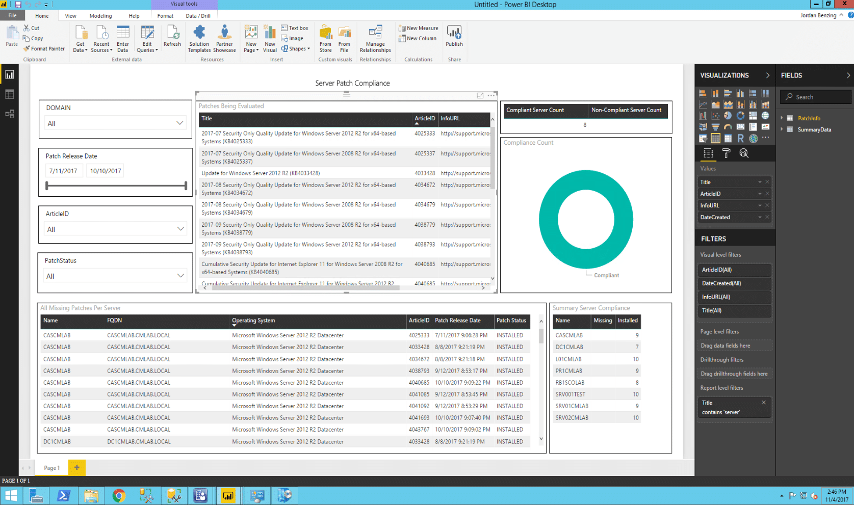 Patch Compliance Reporting in Configuration Manager with