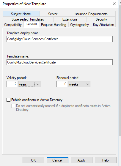 How to setup co management part 2 create certificates system change validity period as your wish yadclub Image collections