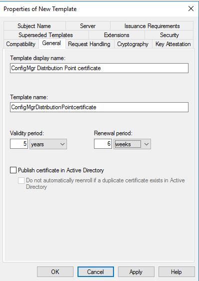 How to setup co management part 2 create certificates system certificate change validity period as your wish yadclub Image collections