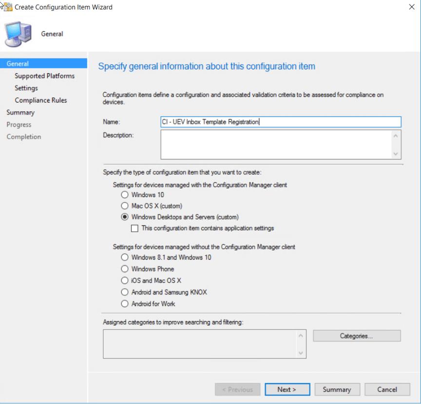 UE-V Inbox Template Registration – Configuration Baseline – System ...