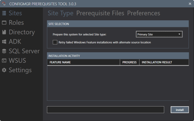 ConfigMgr Prerequisites Tool – Version 3 0 4 released