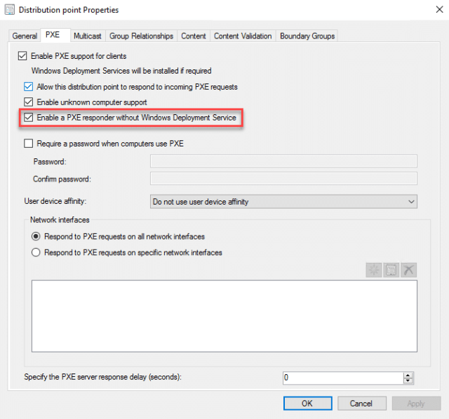 PXE booting without WDS & OSD enhancements in ConfigMgr current