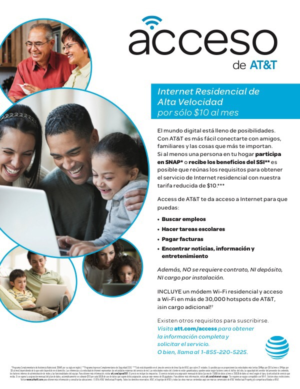 AT&T Access- $10 Internet Service | Southeast Community ...