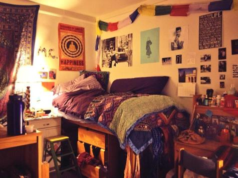 Mary-Clare Bosco shows off her dorm room. (Photo courtesy of Bosco)