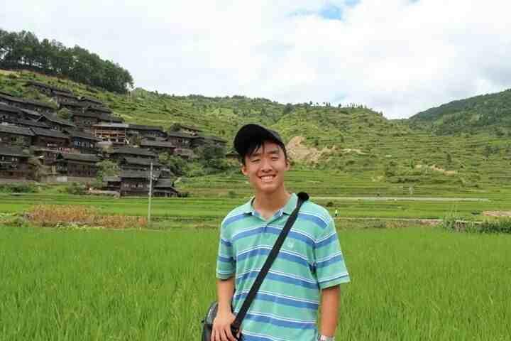 Liu visited a farmland in the Guizhou province of China.