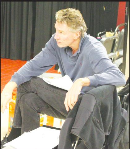 Play director Brian Frishman looks on during rehearsal.