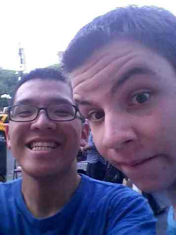 Ryan Ho, '14, and Garrett Kaighn, '14, explore New York City together.