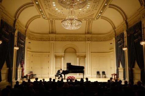 Sophomore Atsuo Chiu performs at Carnegie Hall on March 3, marking his third performance there.