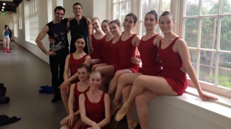 Junior Camille Locke (far right) and her company, Sacramento Ballet Youth Ensemble, will perform at Regional Dance of America, a dance convention in Phoenix, from Wednesday, May 4-Saturday, May 7, causing Locke to miss two AP tests and an SAT testing date.