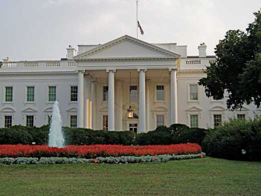 The front lawn of the White House, the famous home of most U.S. presidents and future home for Donald Trump.