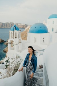 Blue Dome Church Santorini, Plan a Trip to Greece, How to Island Hop in Greece