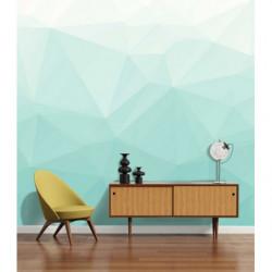 papier peint scandinave formes geometriques bleues