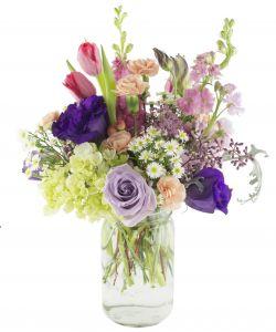 Love and Romance flowers   Scent   Violet   flowers and gifts     Florist designed mason jars in Houston