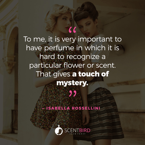 Isabella Rossellini Quote on Perfume
