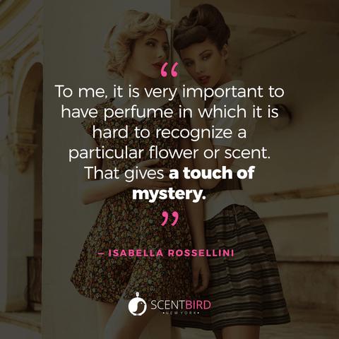 Isabella Rossellini Quote on Perfume