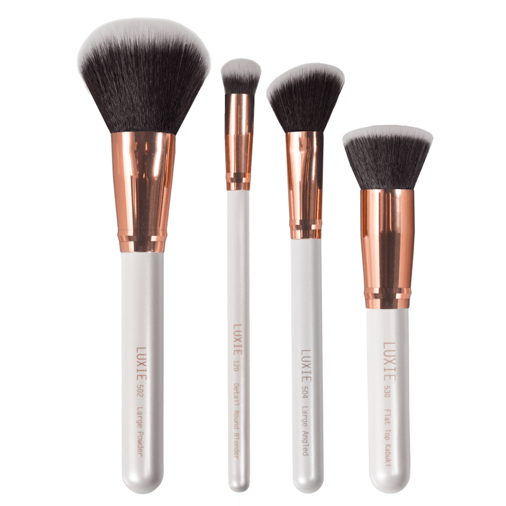 Luxie Flawless Face Brush Set In White