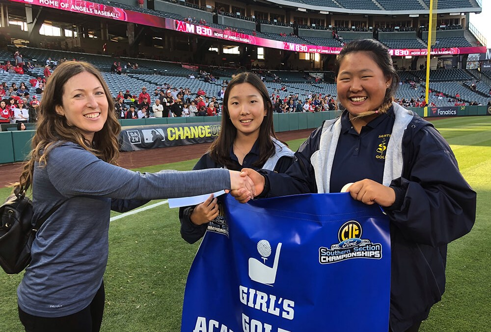 Girls Golf Teams Recognized in CIF Academic Awards