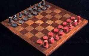 Alexander Calder travelling chess set 1942