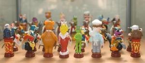 Muppetshow schaakspel uit de collectie van het Schaakstukkenmuseum