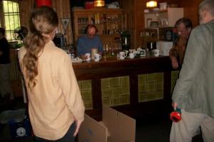Getränke- und Speisepause in der alten Lokalität