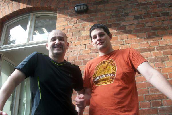 Auch Mirza Hasic und Michael Glienke posierten vor der Kamera.