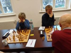 Luis Rose und Bruno Jahn remisierten ihre Partien.