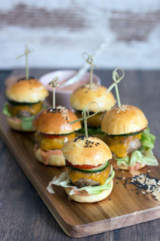 Mini Fleischküchle Burger