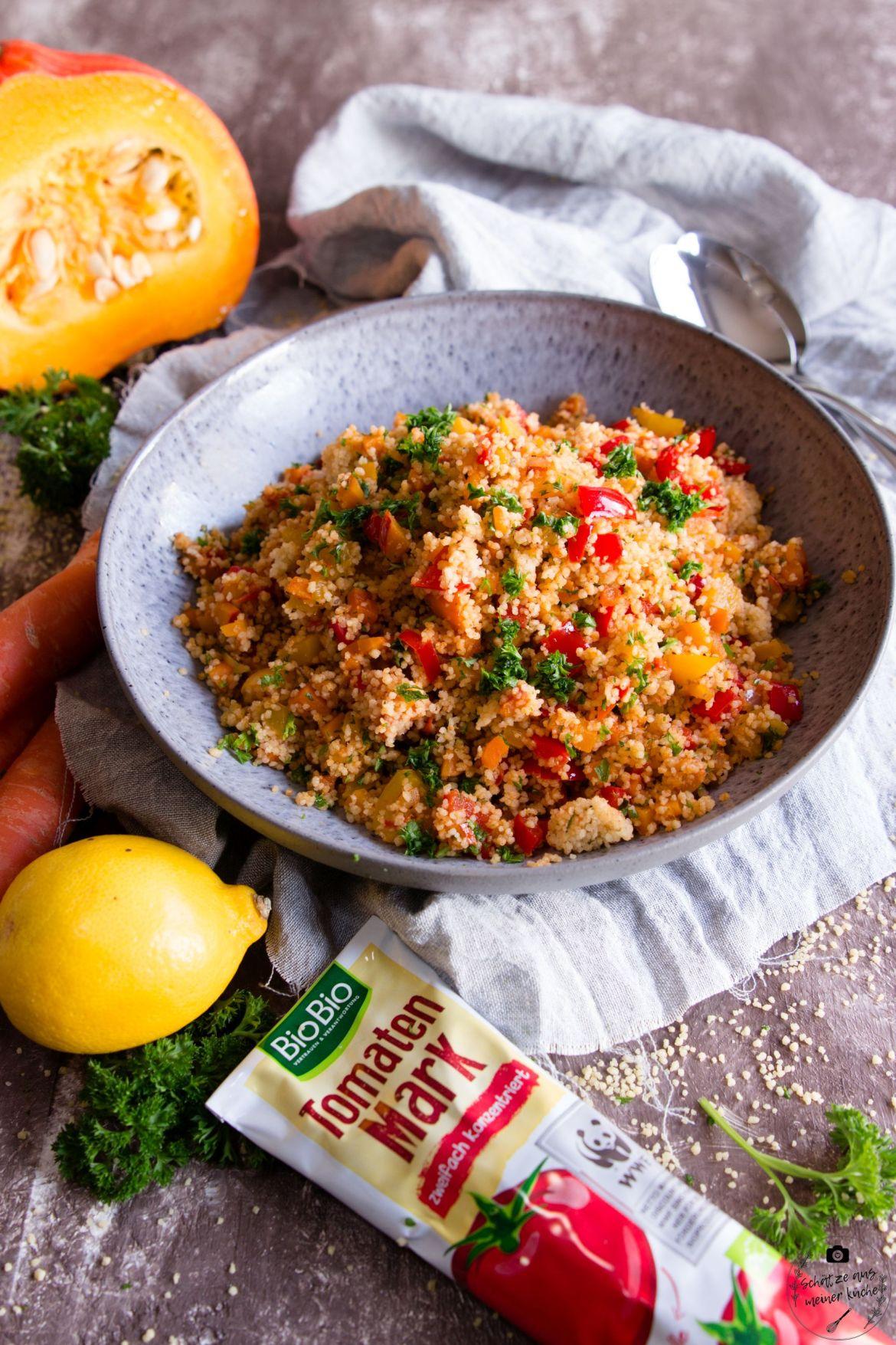 Couscous-Salat mit buntem Herbstgemüse
