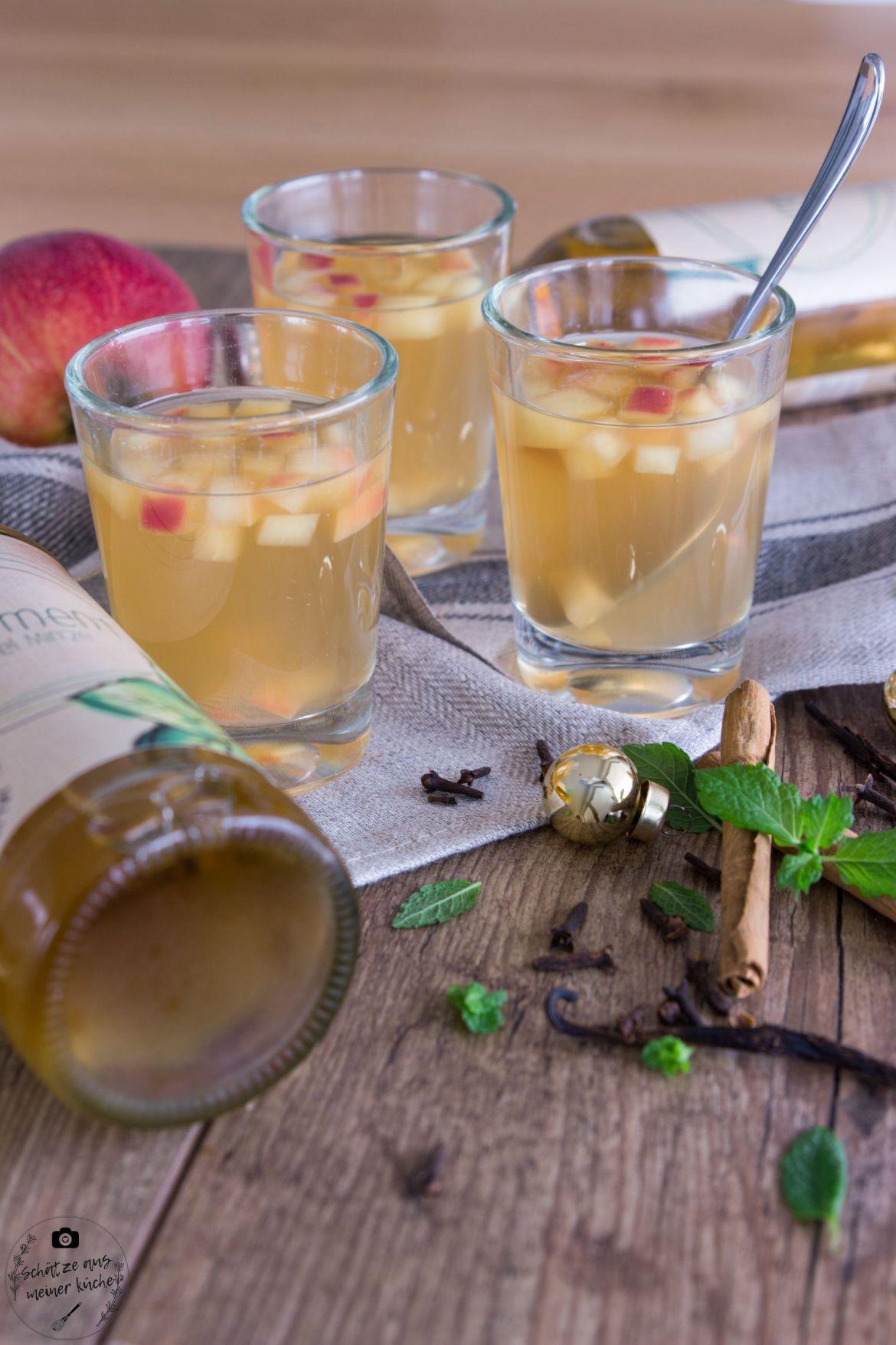 Apfel-Minze-Limonade Apfelpunsch Limoment
