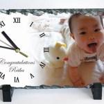 出産祝いで被らない写真入り時計