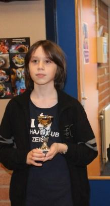 Joost heeft een beker gewonnen!