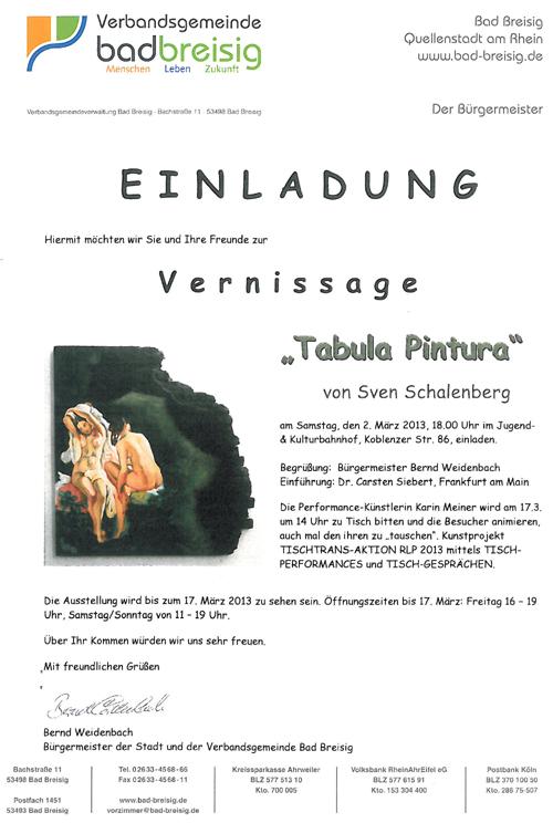 Ausstellung Sven Schalenberg in Bad Breisig