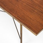 Frode Holm coffee table in teak and brass at Studio Schalling