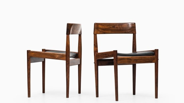 Grete Jalk dining chairs model PJ-3-2 at Studio Schalling