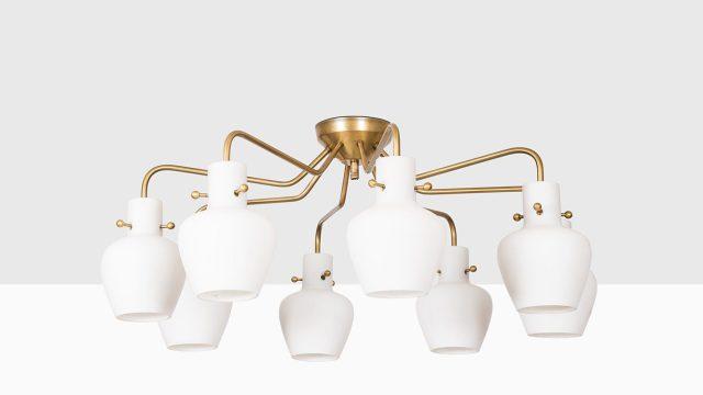 Hans Bergström ceiling lamps model 136 at Studio Schalling