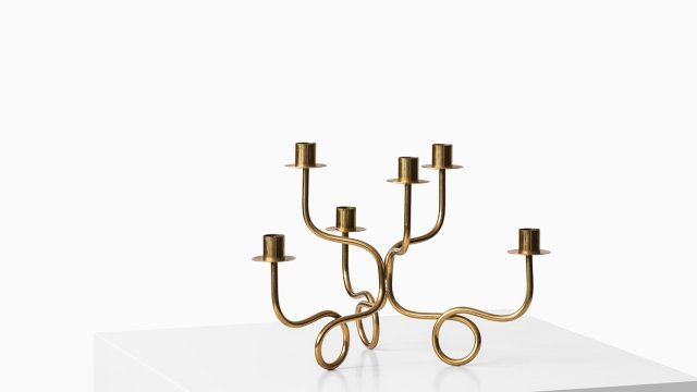 Josef Frank candlestick in brass by Svenskt tenn at Studio Schalling