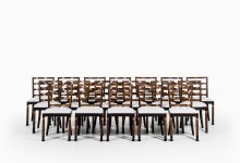 Erik Chambert large set of 18 dining chairs at Studio Schalling