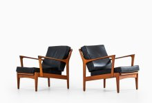 Bertil Fridhagen easy chairs model Kuba at Studio Schalling