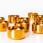 Pierre Forsell shot glasses in brass at Studio Schalling
